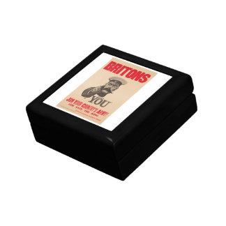 Britons Lord Kitchener Wants You WWI Propaganda Gift Box