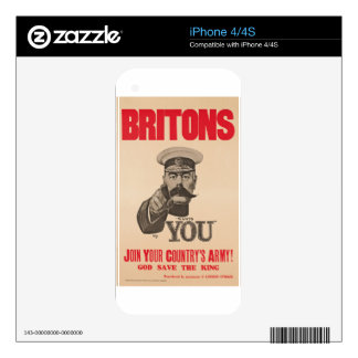 Britons Lord Kitchener Wants You WWI Propaganda iPhone 4S Decal
