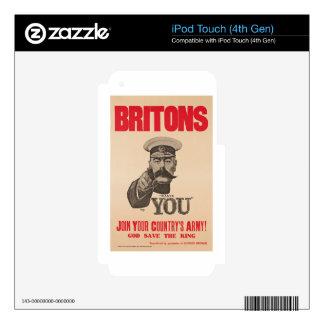 Britons Lord Kitchener Wants You WWI Propaganda iPod Touch 4G Skin