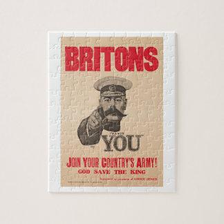 Britons Lord Kitchener Wants You WWI Propaganda Jigsaw Puzzle