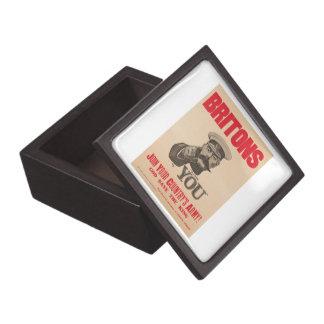 Britons Lord Kitchener Wants You WWI Propaganda Keepsake Box