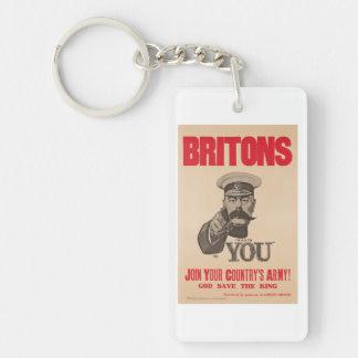 Britons Lord Kitchener Wants You WWI Propaganda Keychain