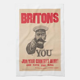 Britons Lord Kitchener Wants You WWI Propaganda Kitchen Towel