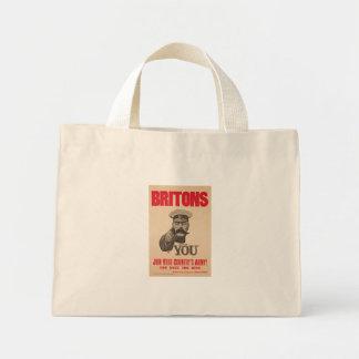 Britons Lord Kitchener Wants You WWI Propaganda Mini Tote Bag