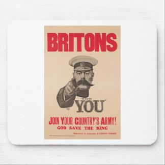 Britons Lord Kitchener Wants You WWI Propaganda Mouse Pad