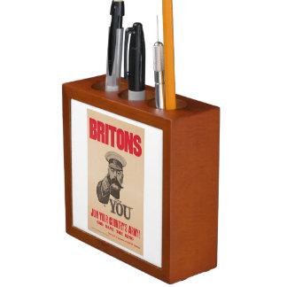 Britons Lord Kitchener Wants You WWI Propaganda Pencil/Pen Holder