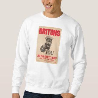 Britons Lord Kitchener Wants You WWI Propaganda Sweatshirt