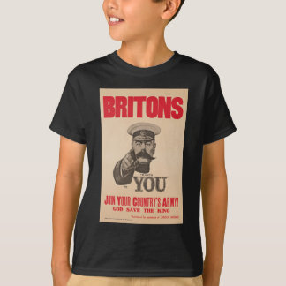 Britons Lord Kitchener Wants You WWI Propaganda T-Shirt