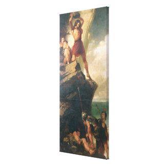 Britons repelling invading Romans Canvas Print
