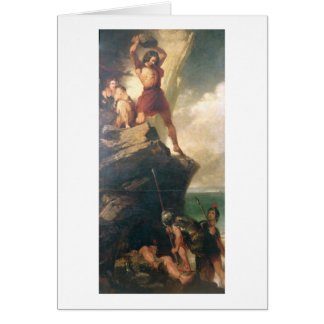Britons repelling invading Romans Card