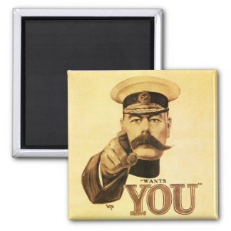 Britons Wants You, Lord kitchener 2 Inch Square Magnet