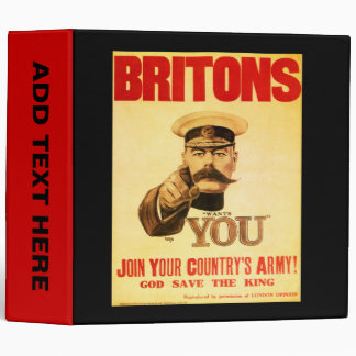 Britons Wants You, Lord kitchener 3 Ring Binder