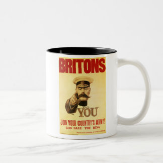 Britons Wants You, Lord kitchener Two-Tone Coffee Mug