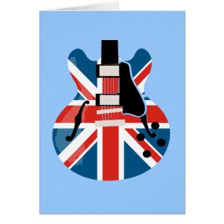 Britpop Guitar Card