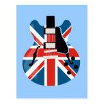 Britpop Guitar Postcard