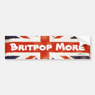 BRITPOP MORE Vintage Union Jack Bumper Sticker Car Bumper Sticker
