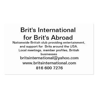 Brits International Business Card Templates