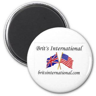 Brits International in White 2 Inch Round Magnet