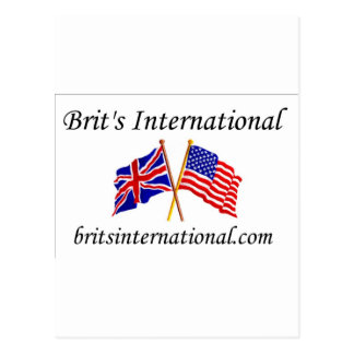 Brits International in White Postcard