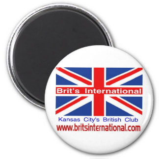 Brit's International 2 Inch Round Magnet