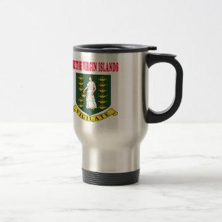 Britsih Virgin Islands Coat Of Arms Designs 15 Oz Stainless Steel Travel Mug