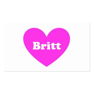 Britt Business Card