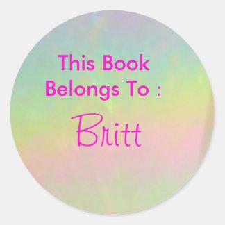 Britt Classic Round Sticker