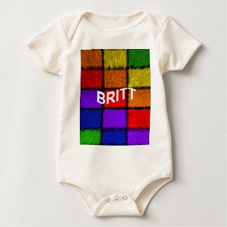 BRITT ( female names ) Baby Bodysuit