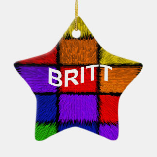 BRITT ( female names ) Ceramic Ornament