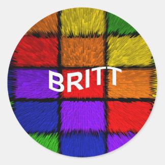 BRITT ( female names ) Classic Round Sticker