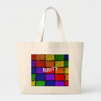 BRITT ( female names ) Large Tote Bag
