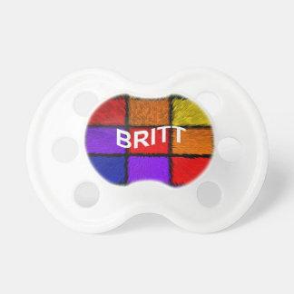 BRITT ( female names ) Pacifier