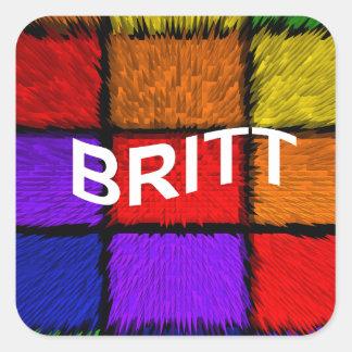 BRITT ( female names ) Square Sticker