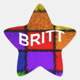 BRITT ( female names ) Star Sticker
