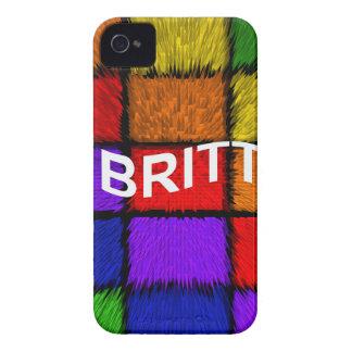 BRITT (nombres femeninos) iPhone 4 Case-Mate Carcasas