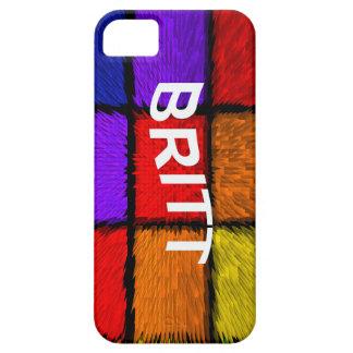 BRITT (nombres femeninos) iPhone 5 Carcasas