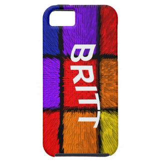 BRITT (nombres femeninos) iPhone 5 Fundas
