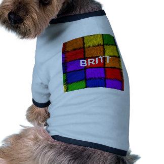 BRITT (nombres femeninos) Camiseta Con Mangas Para Perro