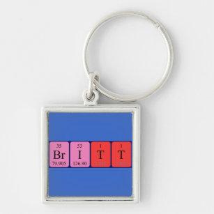 Periodic table keychains zazzle britt periodic table name keyring urtaz Gallery