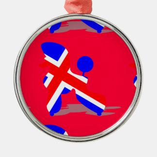 Britt poodle metal ornament