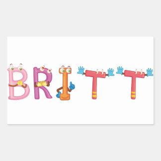 Britt Sticker