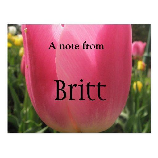 Britt Tarjeta Postal