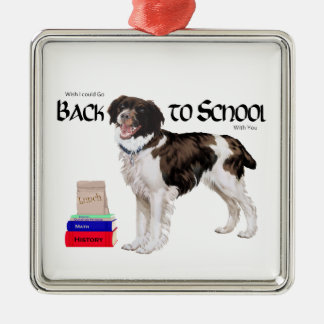 Brittany Back to School Metal Ornament