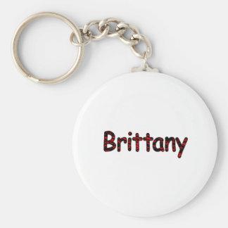Brittany Basic Round Button Keychain