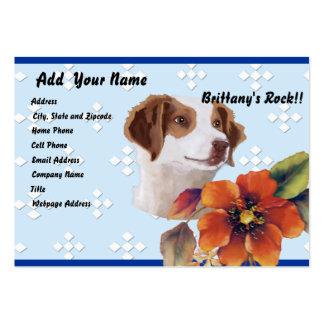 Brittany Blue w White Diamonds Design Business Card