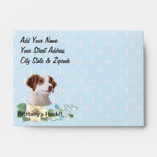 Brittany ~ Blue w/ White Diamonds Design Envelope