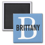 Brittany Breed Monogram Design Magnet