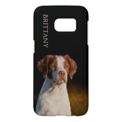 Case-Mate Barely There Samsung Galaxy S7 Case with Brittany Spaniel Phone Cases design