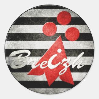 Brittany Breizh Celtic Classic Round Sticker