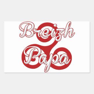 Brittany breizh dad rectangular sticker
